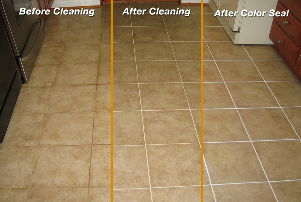 Grout Line Sealing And Color Sealing Mighty