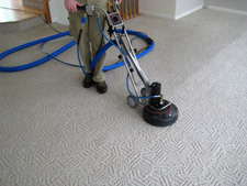 Rotary carpet cleaning