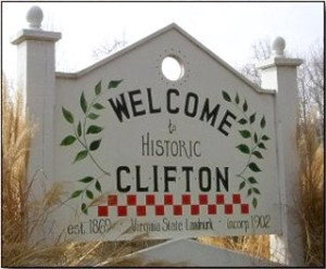 clifton-virginia-welcome-sign